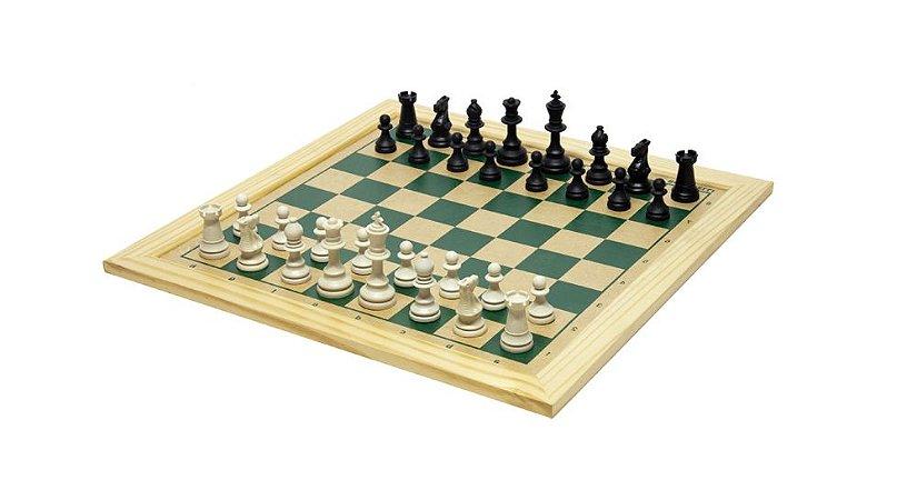 Brinquedo Educativo Jogo De Xadrez Tabuleiro 30x30 Com Moldura - FUNDAMENTAL