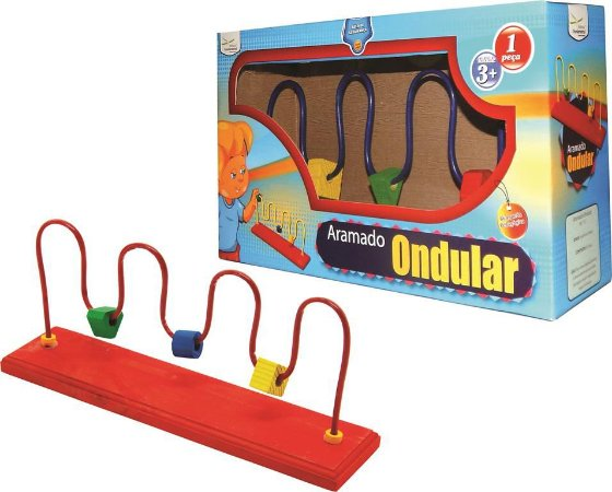 Brinquedo Educativo Aramado Ondular Tam. 18x40x10cm - FUNDAMENTAL