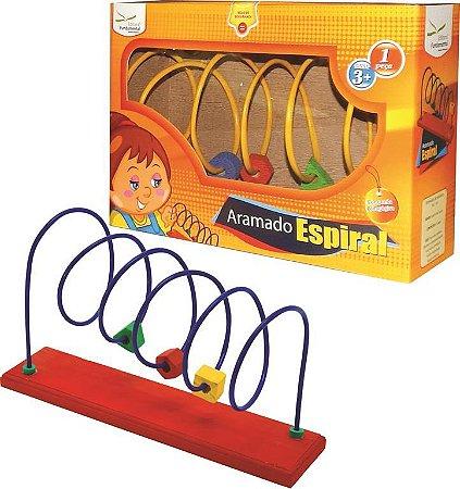 Brinquedo Educativo Aramado Espiral Tam. 20x40x10cm - FUNDAMENTAL