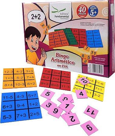 Bingo Aritmetico 40 Peças Em Eva