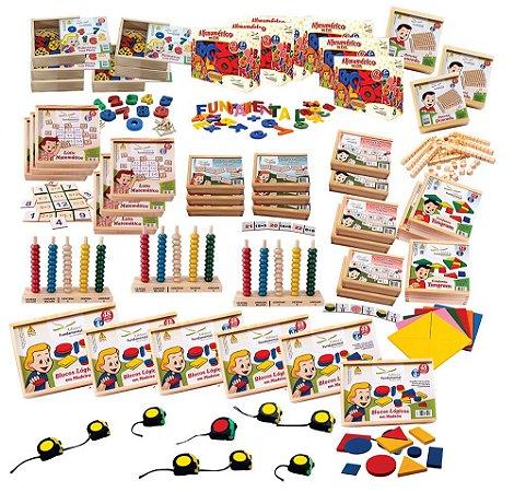 Brinquedo Educativo Kit MEC Matemática FNDE – 55 Produtos - FUNDAMENTAL