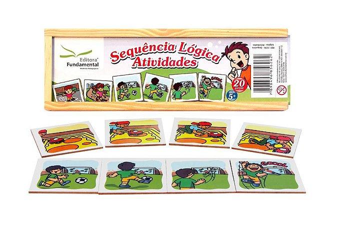 Brinquedo Educativo Sequencia Lógica Atividades Com 20 Peças - FUNDAMENTAL