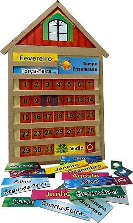 Casinha Calendario Em Mdf Tam. 80x60x4 Cm