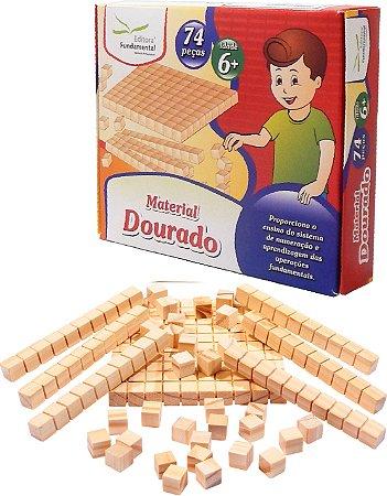 Material Dourado 74 Peças Em Caixa Cartonada