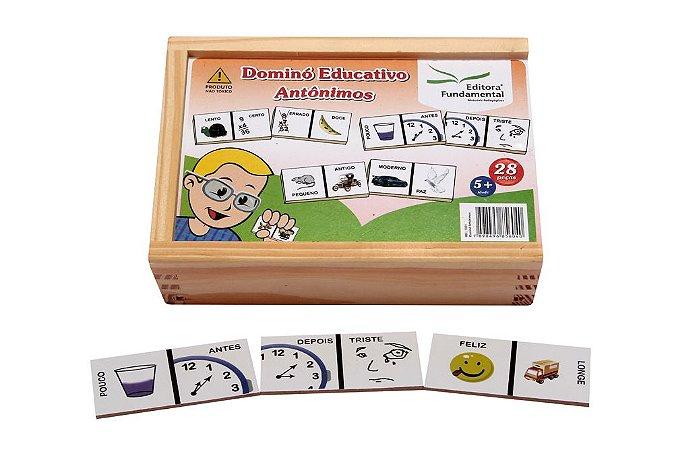 Dominó Educativo Antônimos Jogo Com 28 Peças