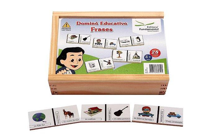 Brinquedo Educativo Dominó Frases Jogo Com 28 Peças - FUNDAMENTAL