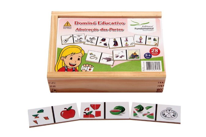 Brinquedo Educativo Dominó Abstraçao Das Partes Jogo Com 28 Peças - FUNDAMENTAL
