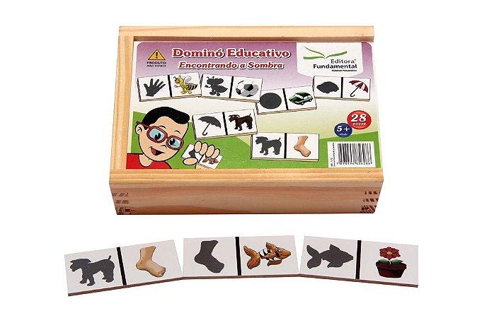 Brinquedo Educativo Dominó Encontrando A Sombra Jogo Com 28 Peças - FUNDAMENTAL