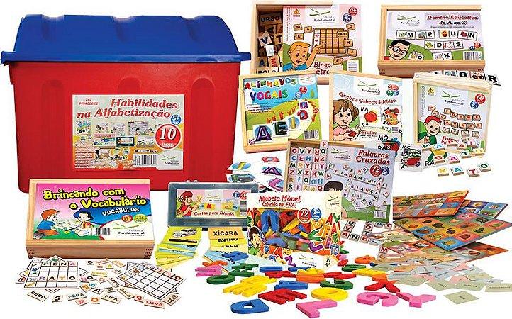 Baú Habilidades Na Alfabetizaçao Com 10 Jogos Diversos