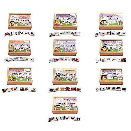 Conjunto De Dominos Alfabetizaçao Caixa Com 10 Jogos