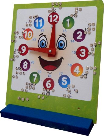 Brinquedo Educativo Relogio Educativo Hora Braile 25 Cm - FUNDAMENTAL