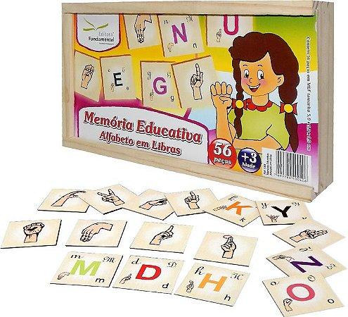 Brinquedo Educativo Memória Alfabeto Em Libras - FUNDAMENTAL