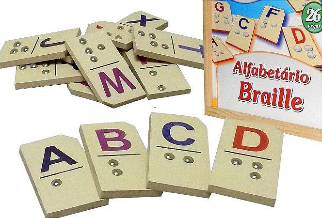 Alfabetario Braile completo do A ao Z