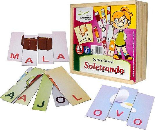 Brinquedo Educativo Quebra Cabeça Soletrando - FUNDAMENTAL