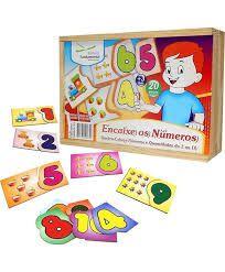 Brinquedo Educativo Encaixe Os Numeros 1 Ao 10 - FUNDAMENTAL
