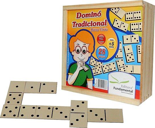 Brinquedo Educativo Dominó Tradicional Baixa Visao - FUNDAMENTAL