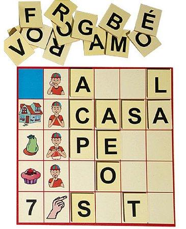Brinquedo Educativo Loto Libras 210 Peças Em MDF - FUNDAMENTAL