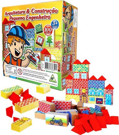Arquitetura E Construçao Caixa Com 100 Peças