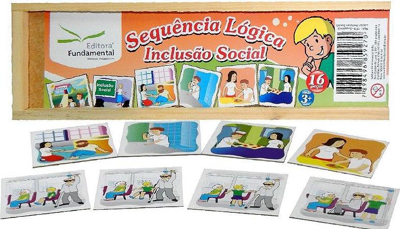 Brinquedo Educativo Sequencia Lógica Inclusao Social Com 20 Peças - FUNDAMENTAL