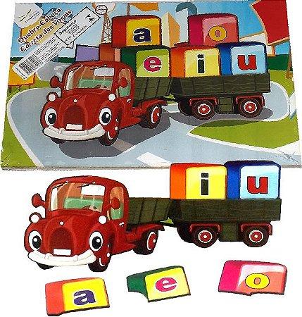 Brinquedo Educativo Quebra Cabeça Carreta Das Vogais - FUNDAMENTAL