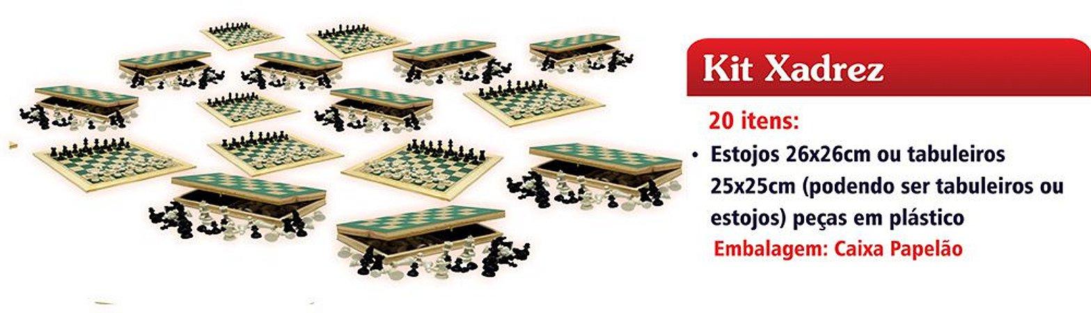 Kit MEC Xadrez FNDE – Conjunto c/ 20 Jogos