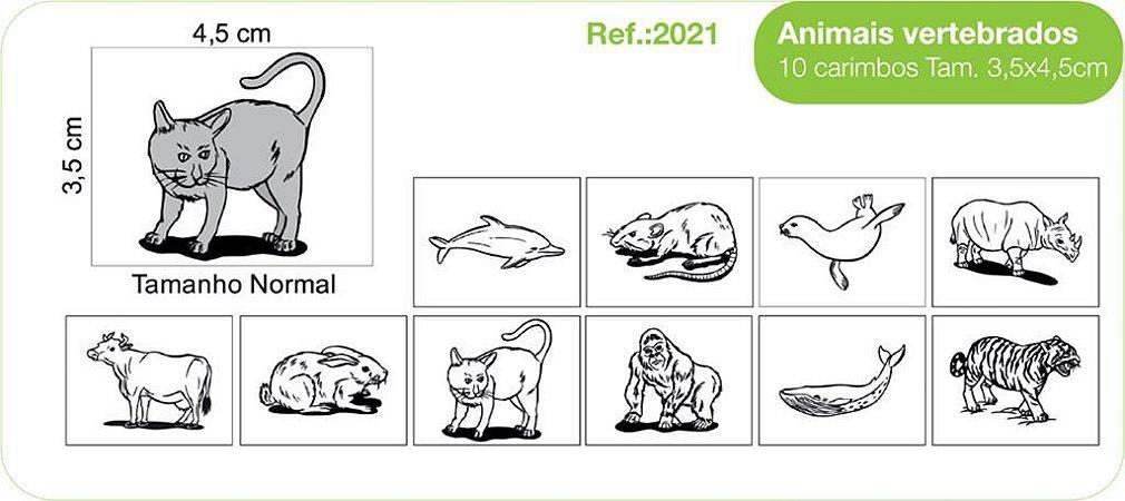 Carimbos Animais Vertebrados 10 Unidades