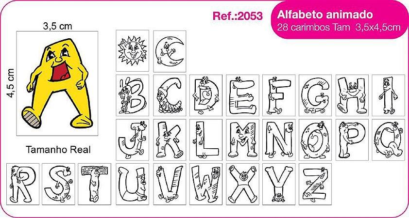 Carimbos Alfabeto Animado 28 Unidades