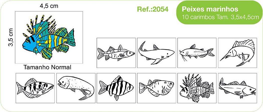 Carimbos Peixes Marinhos 10 Unidades