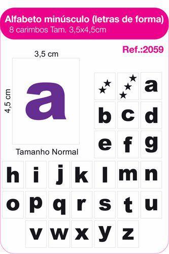 Carimbos Pedagógicos Alfabeto Minúsculo Letras De Forma 28 Unidades - Fundamental
