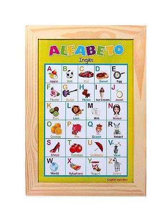 Paineis Sala De Aula Alfabeto Ilustrado Ingles 38x50cm - FUNDAMENTAL