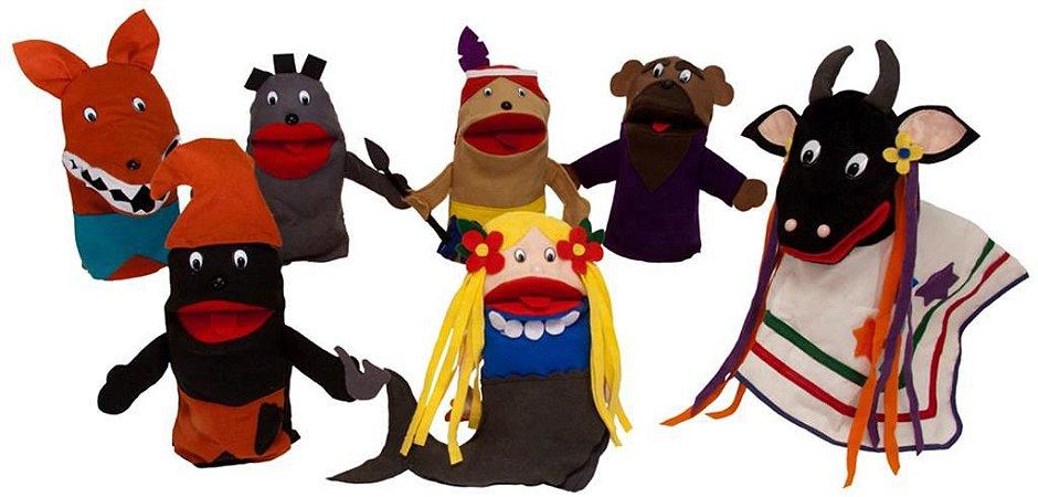 Conjunto Fantoches Folclore Com 6 Unidades