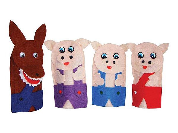 Brinquedo Educativo Dedoches Solapa Refil Os Tres Porquinhos - FUNDAMENTAL