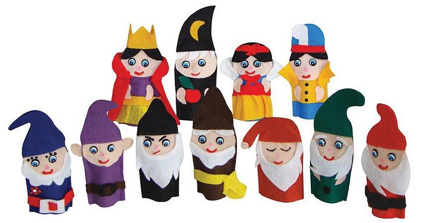 Brinquedo Educativo Dedoches Solapa Refil Branca De Neve E Os Sete Anões - FUNDAMENTAL