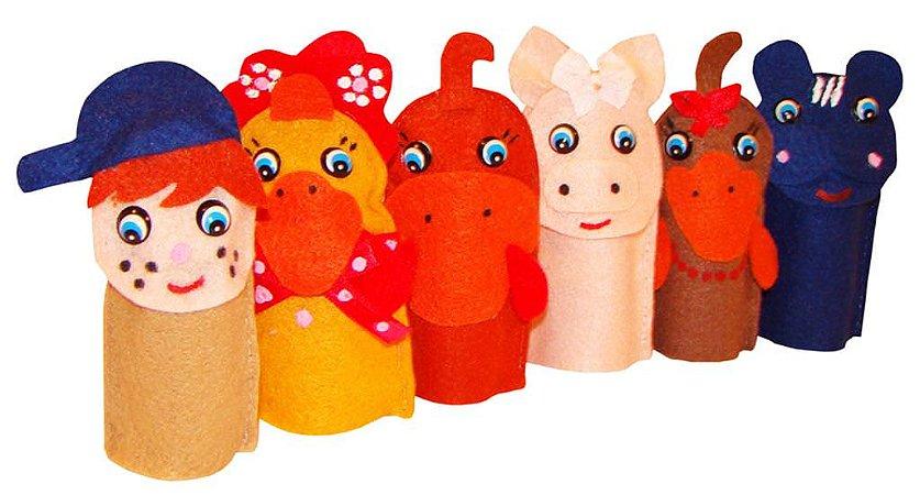 Brinquedo Educativo Dedoches Solapa Refil Fazendinha - FUNDAMENTAL