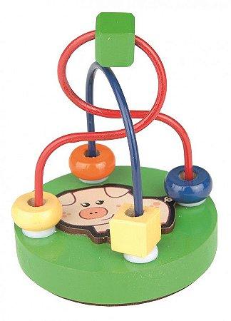 Brinquedo Educativo Mini Aramado - PORCO - CARLU