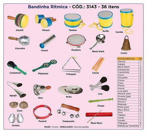 Bandinha Rítmica 36 Instrumentos Musicais