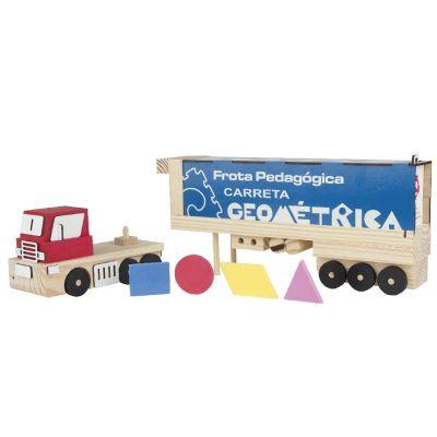Brinquedo Educativo FROTA PEDAGOGICA CARRETA GEOMETRICA - CARLU