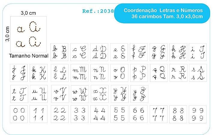 Carimbos Cordenaçao Motora Mod. Letras E Numeros