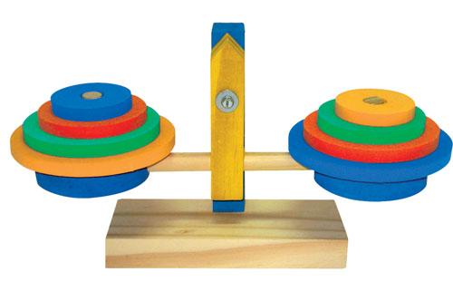 Brinquedo Educativo Balança Em Madeira e E.V.A 26x18 cm - JOTTPLAY