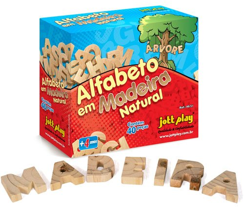 Jogo Educativo Alfabeto Móvel Recortado Em Madeira - JOTTPLAY