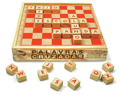 Palavras Cruzadas 67 Peças Cx. Madeira