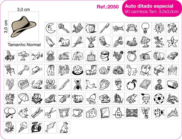 Carimbos Auto Ditado Especial - 90 un.