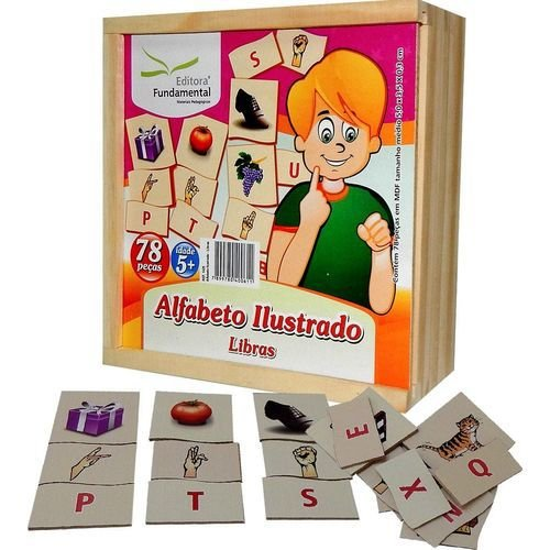 Jogo Educativo Alfabeto Ilustrado Libras - FUNDAMENTAL