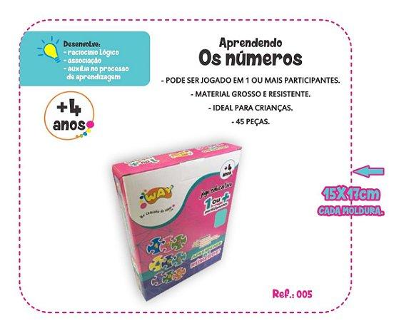 Jogo Educativo Quebra Cabeça Números Com 45 Peças - Way