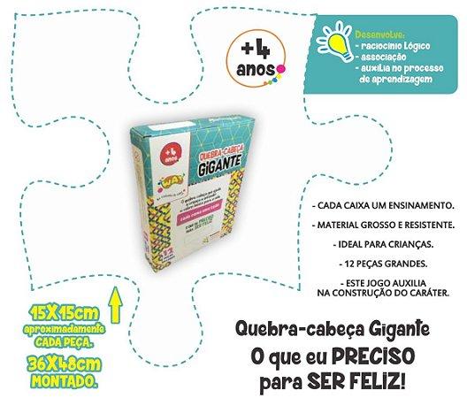 Jogo Educativo Quebra Cabeça Gigante GENTILEZA 12 Peças- Way