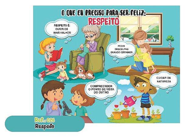 Jogo Educativo Quebra Cabeça Gigante RESPEITO 12 Peças- Way