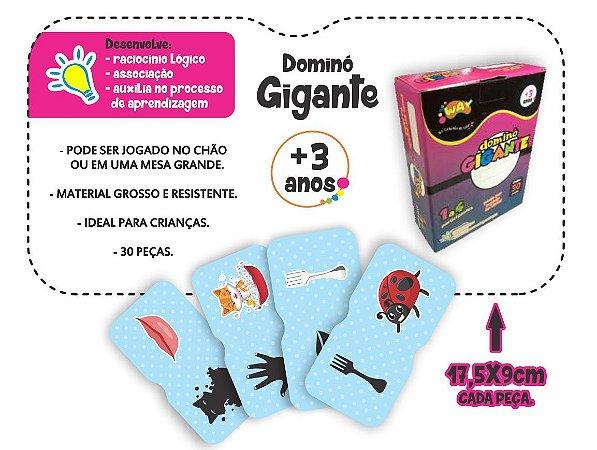 Jogo Educativo Dominó Gigante Antônimos 30 Peças- Way