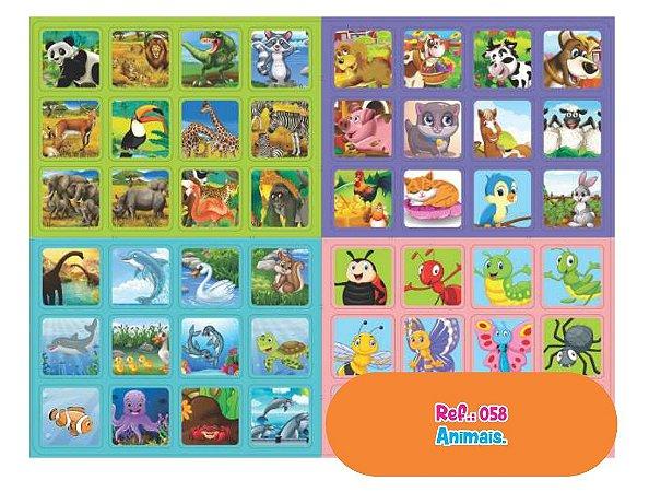 Brinquedo Educativo Jogo da Memória Animais 48 Pares - Way