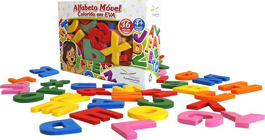Alfabeto Móvel Colorido EVA 36 Letras