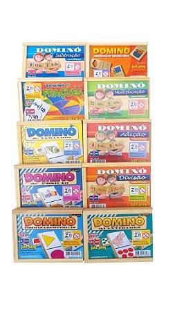 Brinquedo Educativo Kit Com 10 Jogos De Dominó - JOTTPLAY